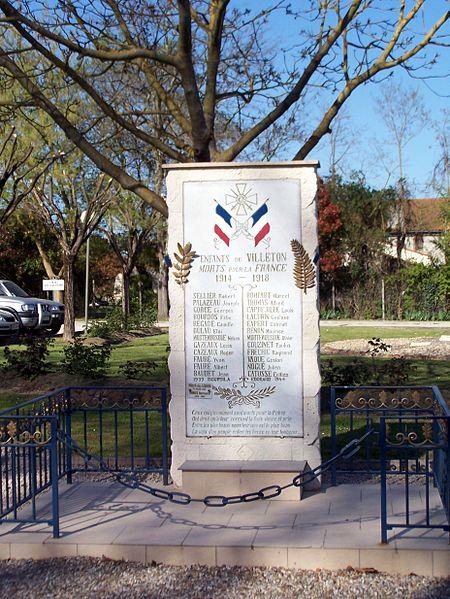 Oorlogsmonument Villeton