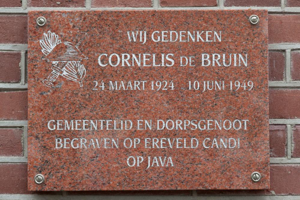 Plaquette Cornelis de Bruin