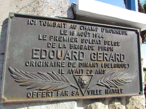 Plaque Edouard Gerard Sallenelles
