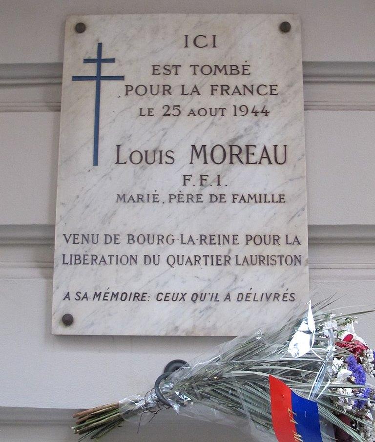 Plaque Louis Moreau