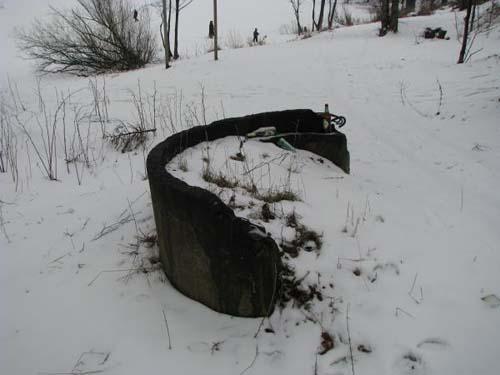 Remains Russian Pillbox Z-6 (St. Petersburg)
