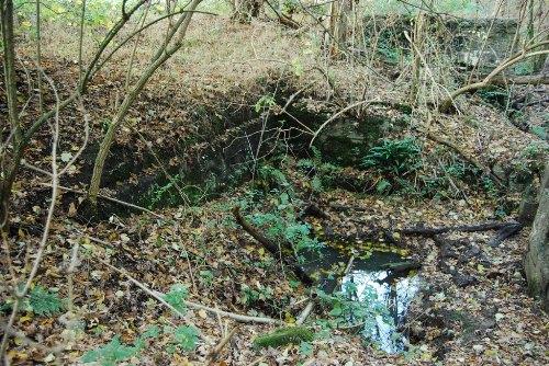 Remains German Mortar Bunker Groeneburg Wood