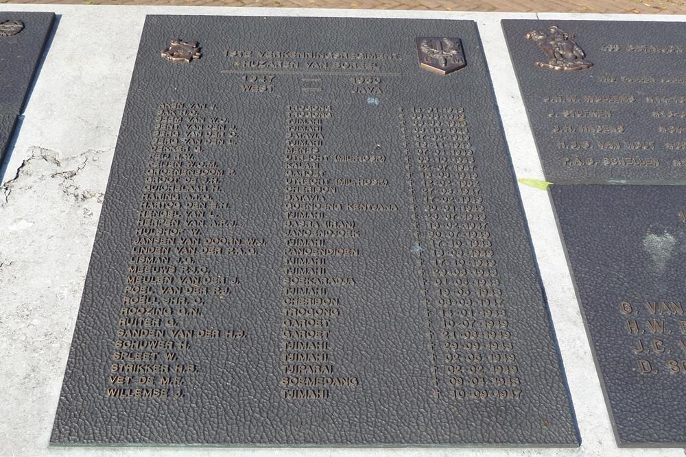 Plaquette 1e Verkenningsregiment Huzaren van Boreel