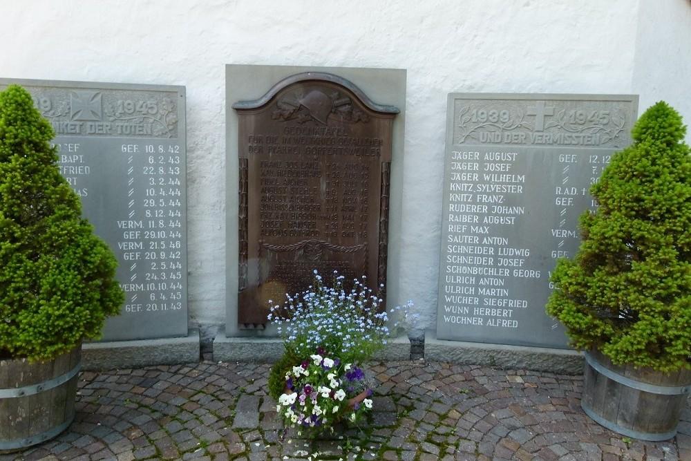 War Memorial First and Second World Wars Goppertsweiler