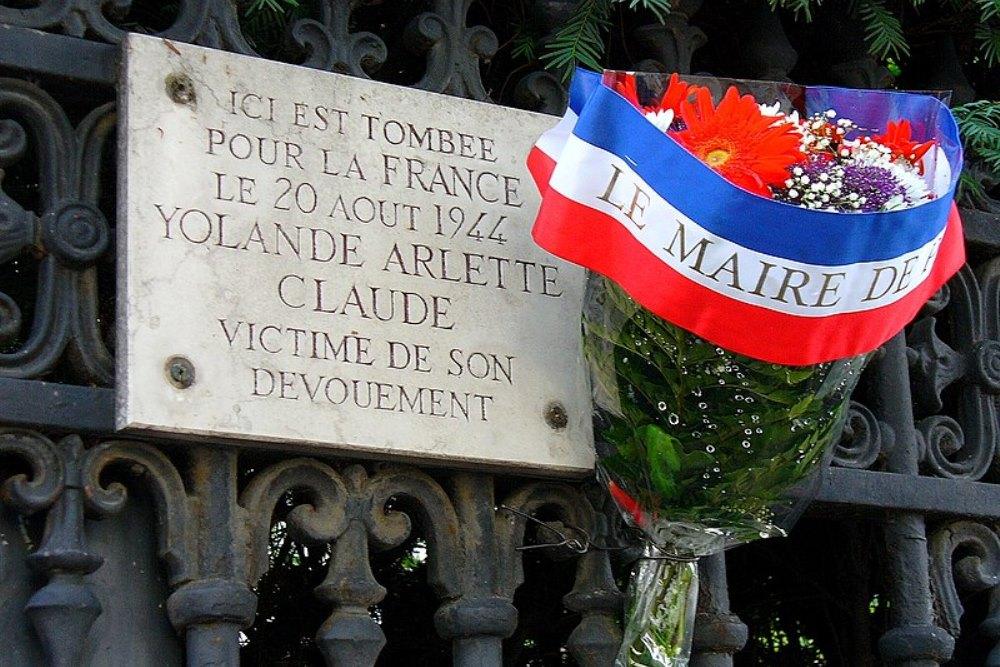Plaque Yolande Arlette Claude