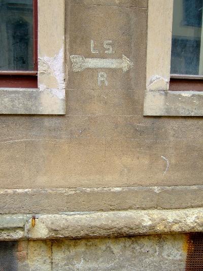 Sign Air Raid Shelter Dresden
