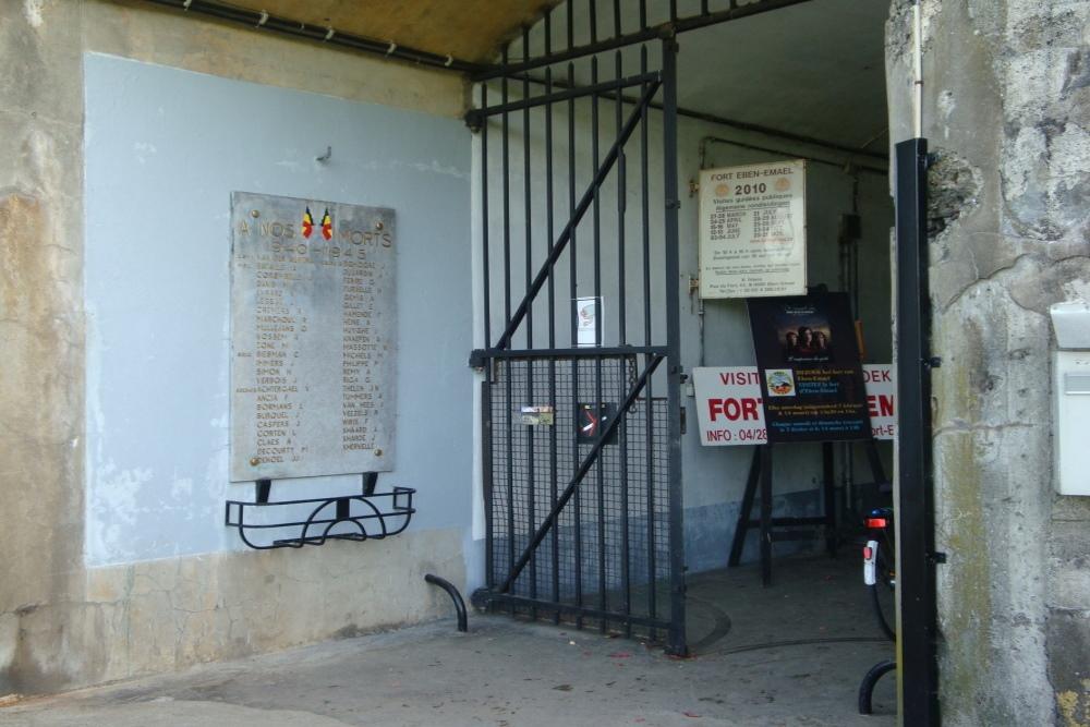 Gedenkplaten Fort Eben-Emael