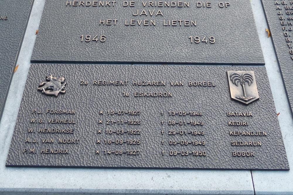 Plaquette 1e Eskadron 2e Regiment Huzaren van Boreel