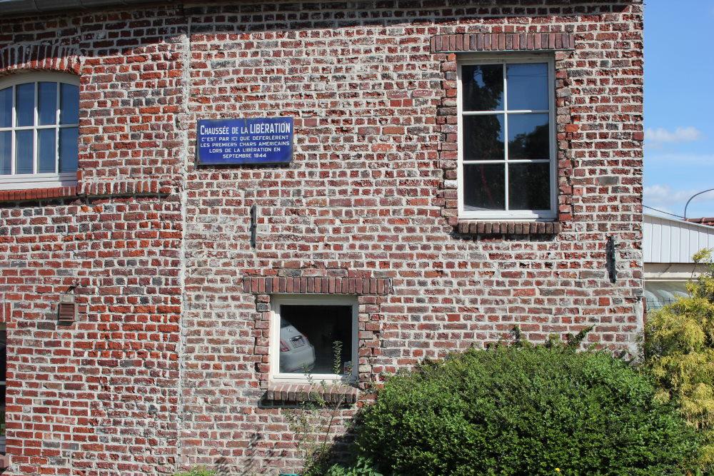Gedenkplaat Bevrijding 1944 Grez-Doiceau