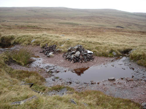 Crash Site & Wreckage Lancaster Bomber Llywel