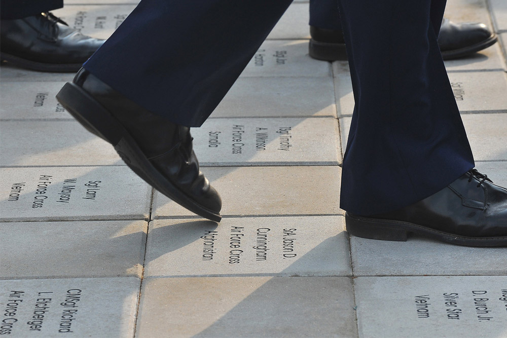 Bricks with names Fallen Airmen Lackland AFB