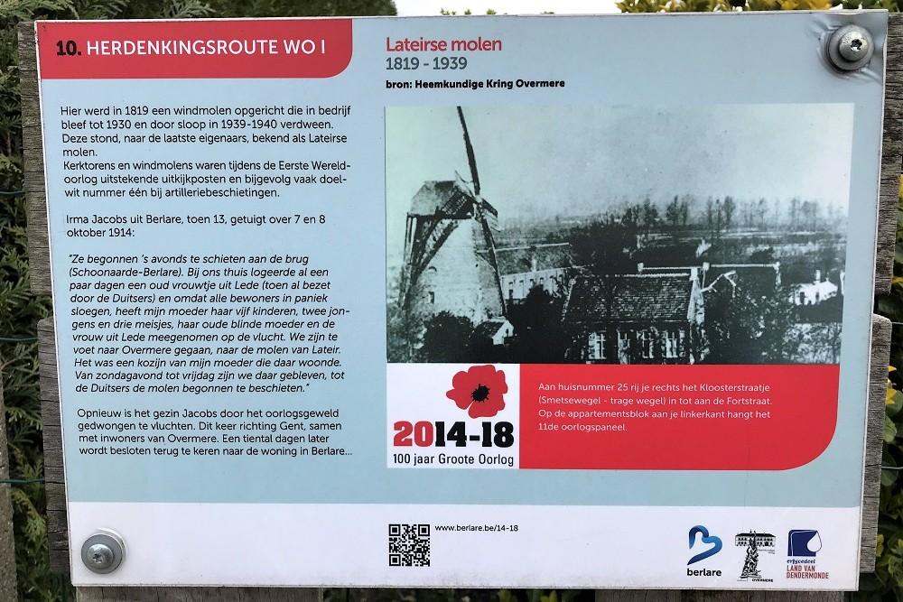 Herdenkingsroute 100 jaar Groote Oorlog - Informatiebord 10