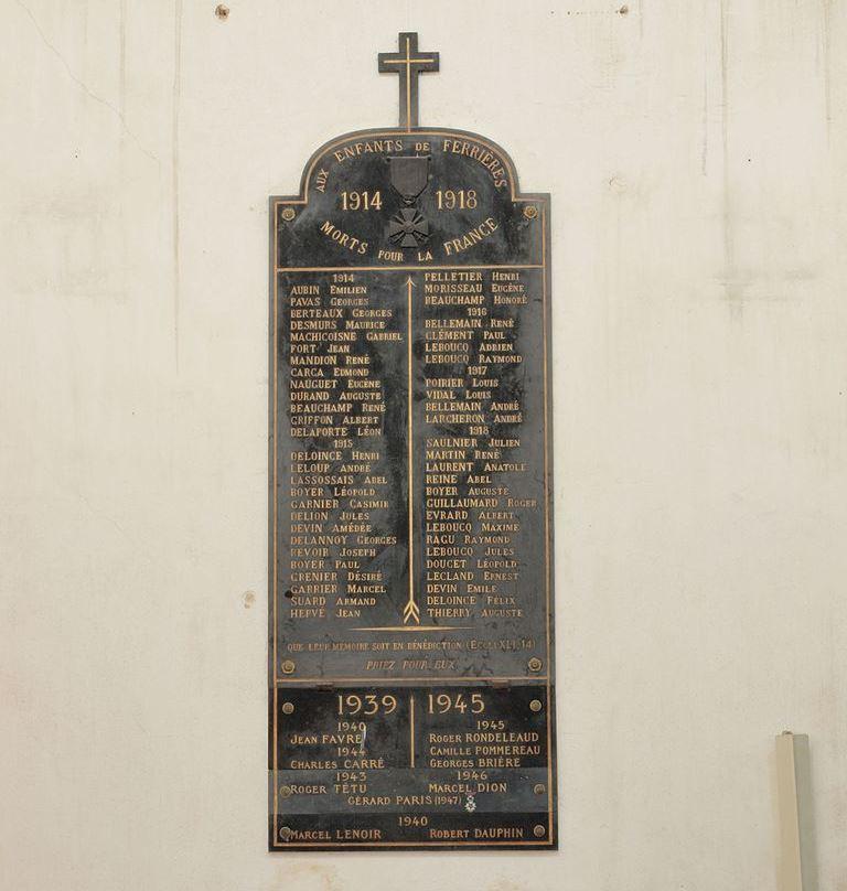 War Memorial Ferrières-en-Gâtinais