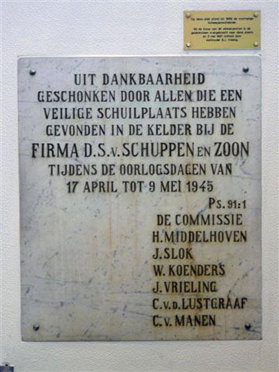 Hiders Plaque Veenendaal