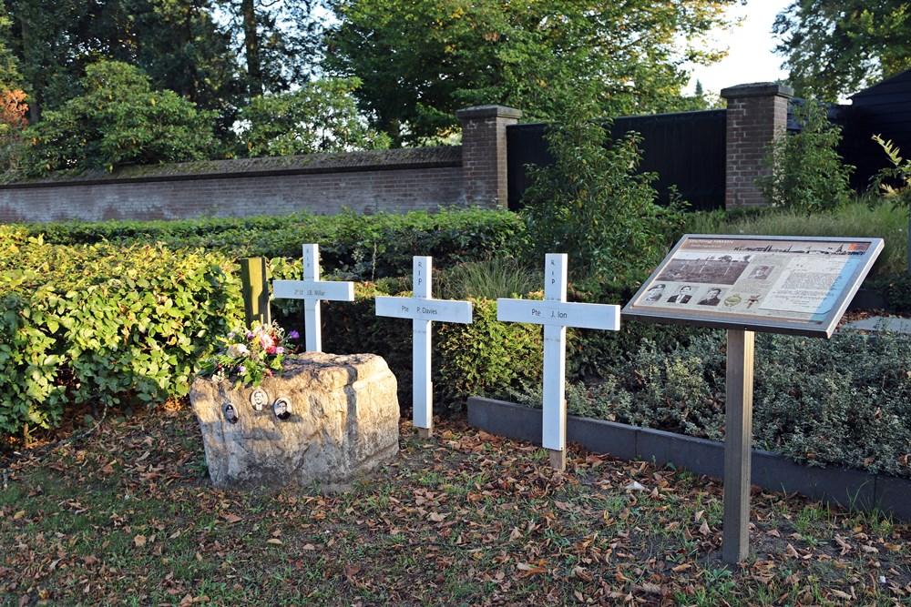 Drie Britse soldaten lagen tijdelijk begraven in Mierlo-Hout