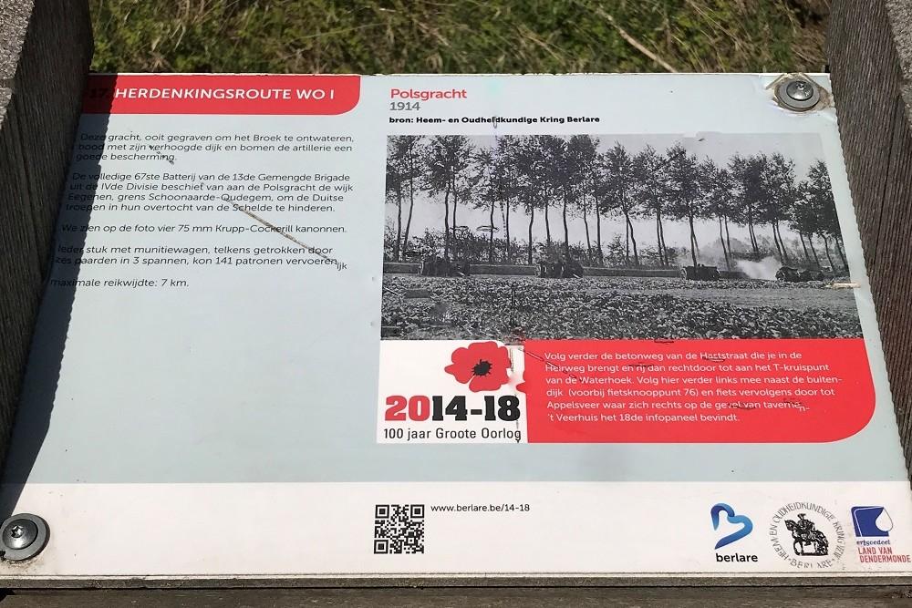 Herdenkingsroute 100 jaar Groote Oorlog - Informatiebord 17