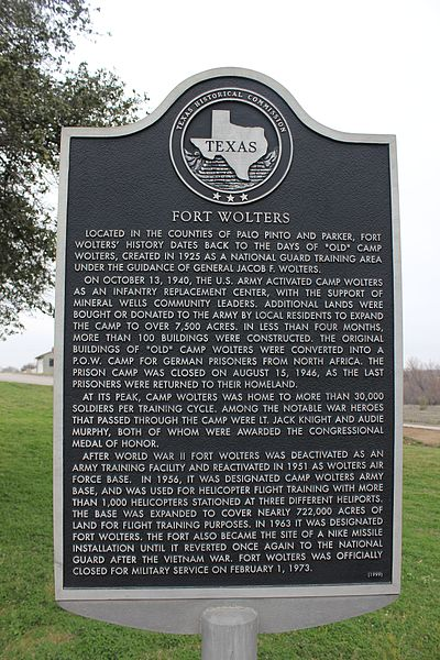Texas Historic Marker - Fort Wolters