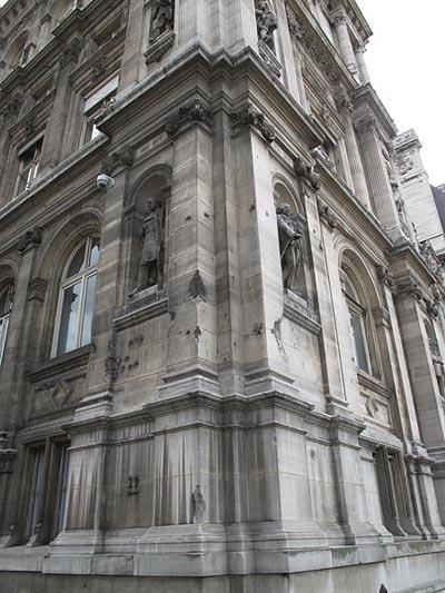 Kogel- en Granaatinslagen Stadhuis Parijs
