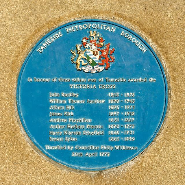Plaque Victoria Crosses Tameside