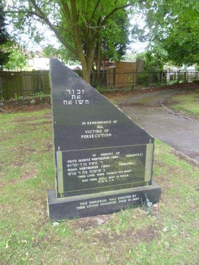 Holocaust Monument Palmerston Cemetery