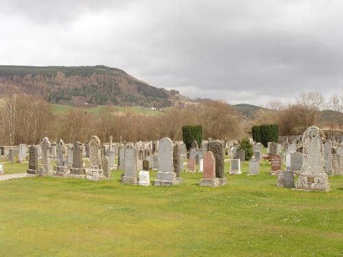 New Cemetery Arngask Glenfarg Perthshire Scotland March ...