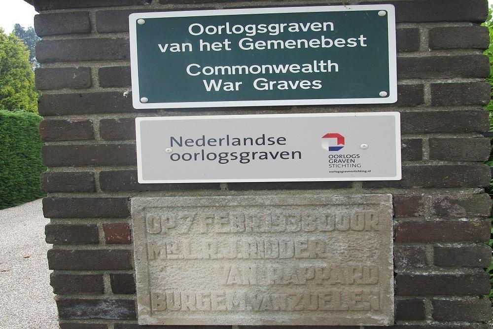 Nederlandse Oorlogsgraven Algemene Begraafplaats Zoelen