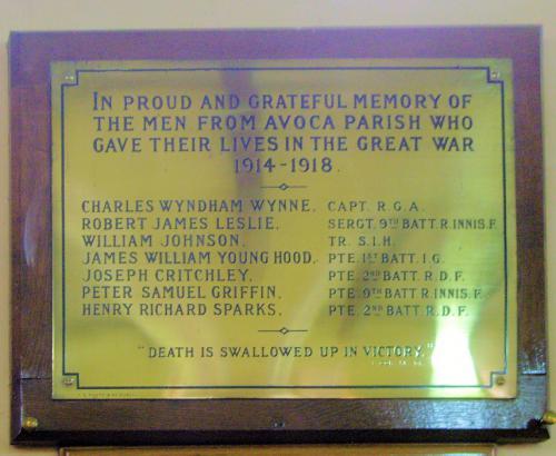 War Memorial Avoca Parish