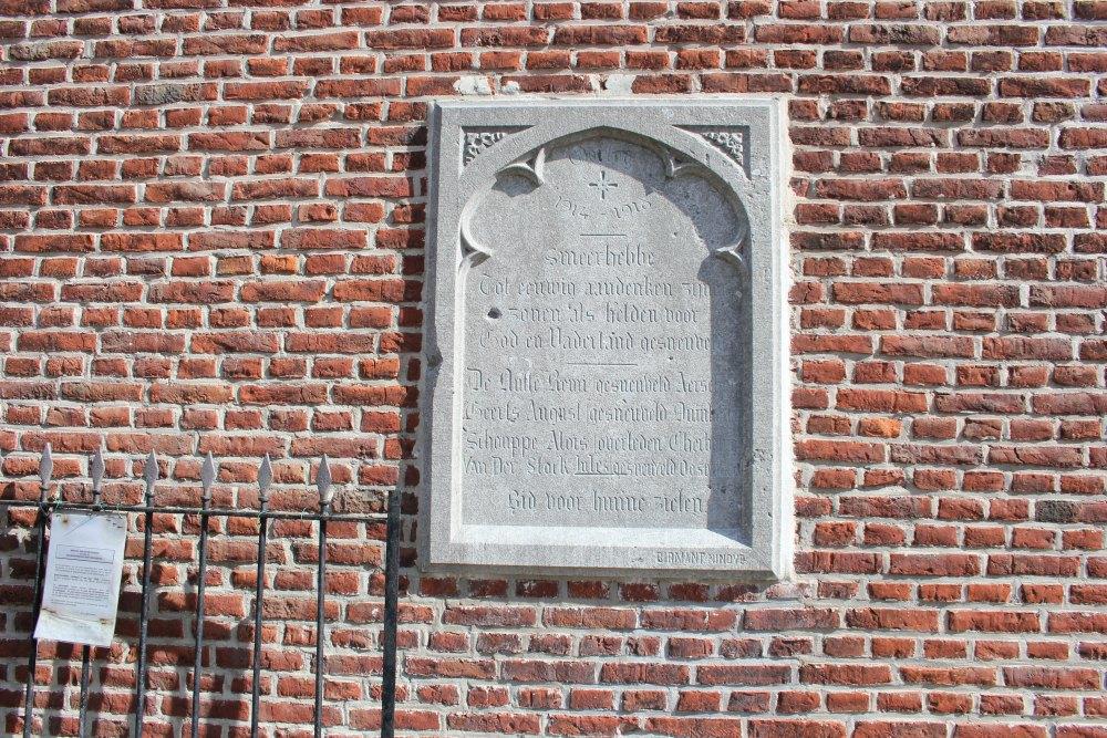 Commemorative Plate War Victims Smeerebbe