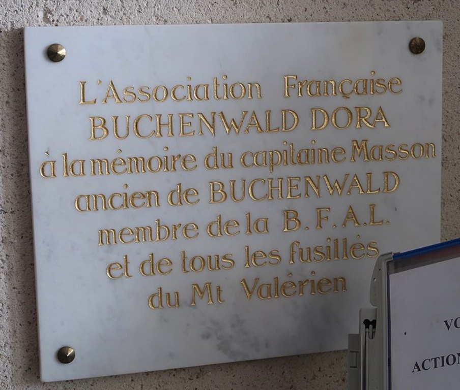 Plaque Capitaine Masson