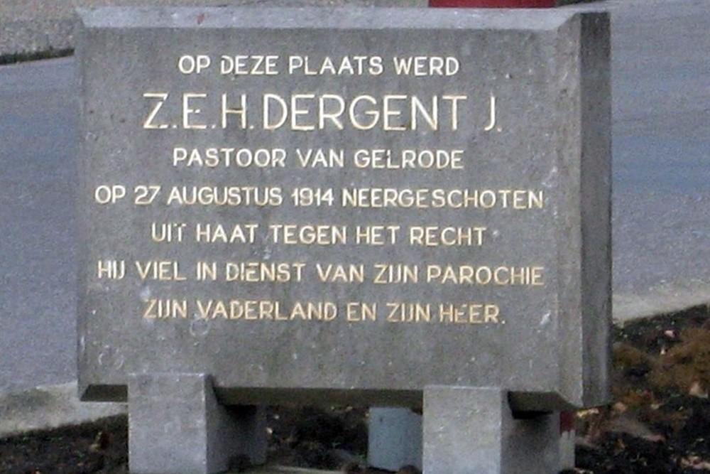 Memorial Stone Pieter-Jozef Dergent Aarschot