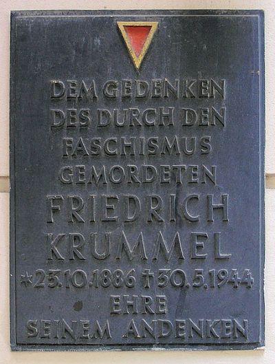 Plaque Friedrich Krummel