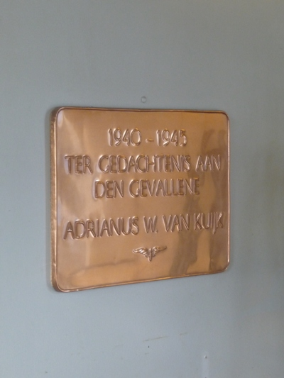 Plaquette Omgekomen NS Medewerker Tilburg