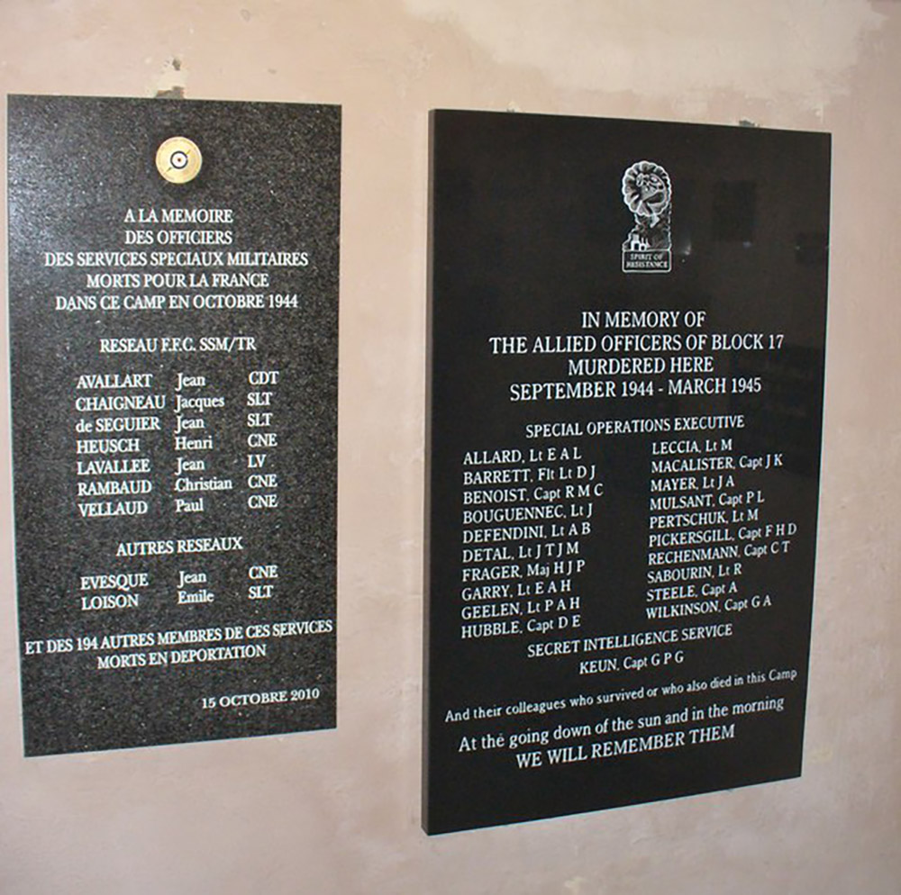 Plaques Secret Agents Buchenwald