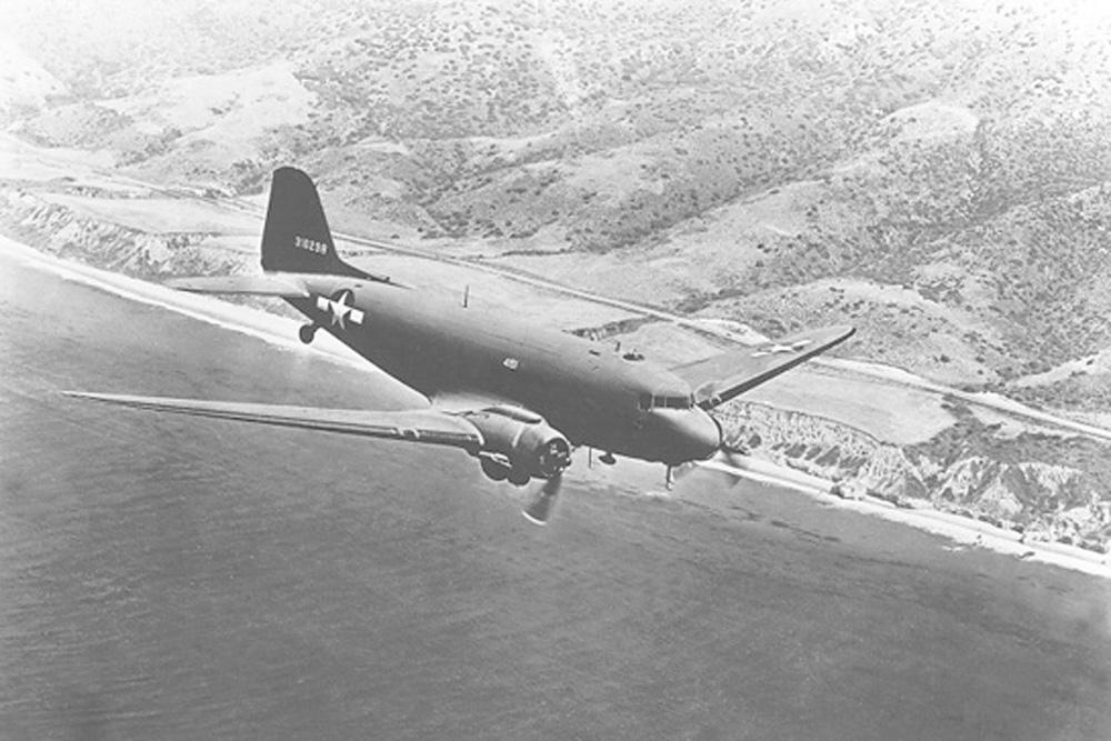 Crashlocatie Douglas C-47A-25-DK (DC-3) 42-93590