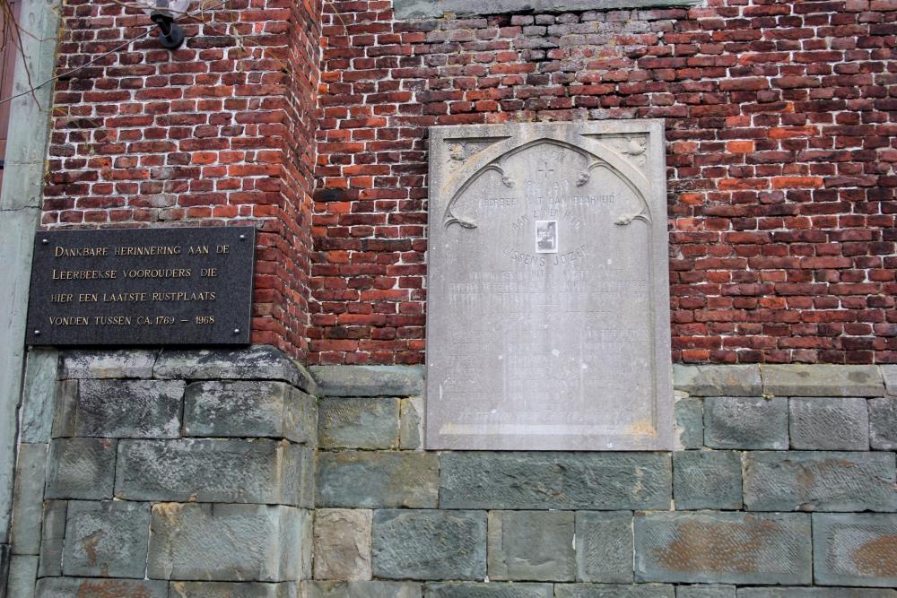 Commemorative First World War Plate Leerbeek