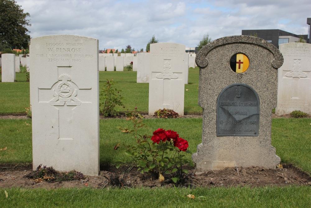 Belgisch Graf White House Cemetery