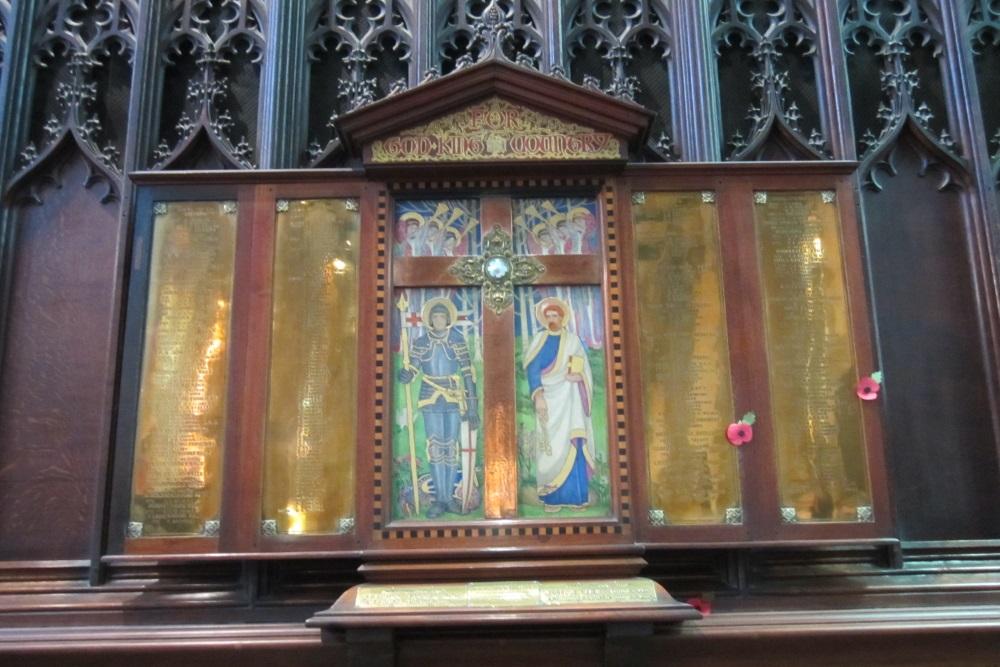 Plaquettes Holy Trinity Church Stratford-upon-Avon