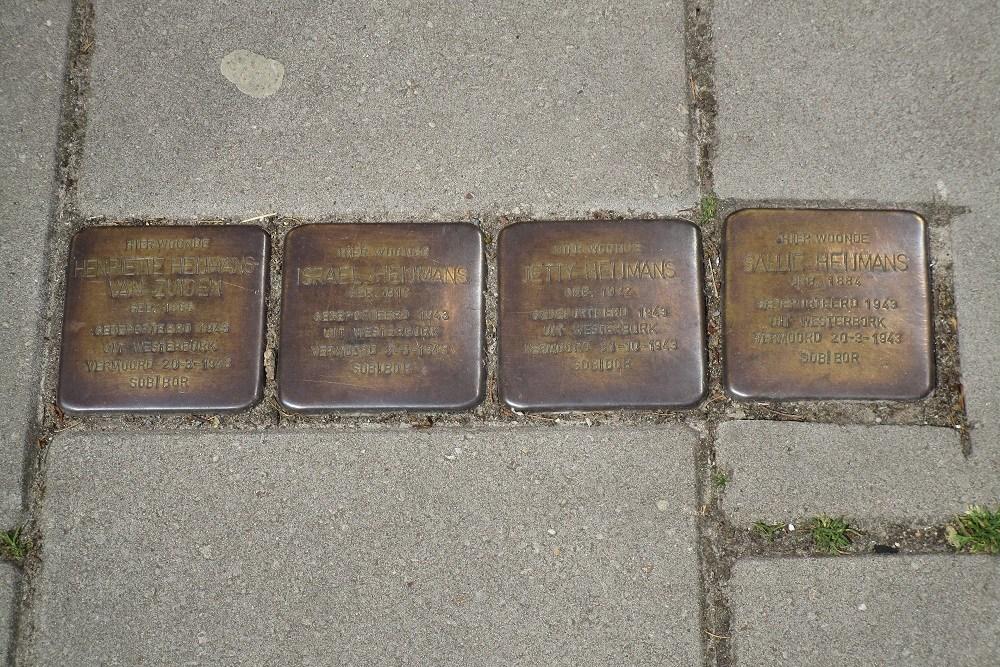 Herdenkingsstenen Waldeckstraat 4