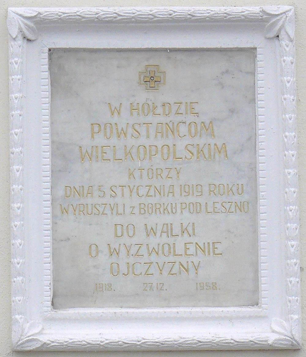 Plaque 5 January 1919
