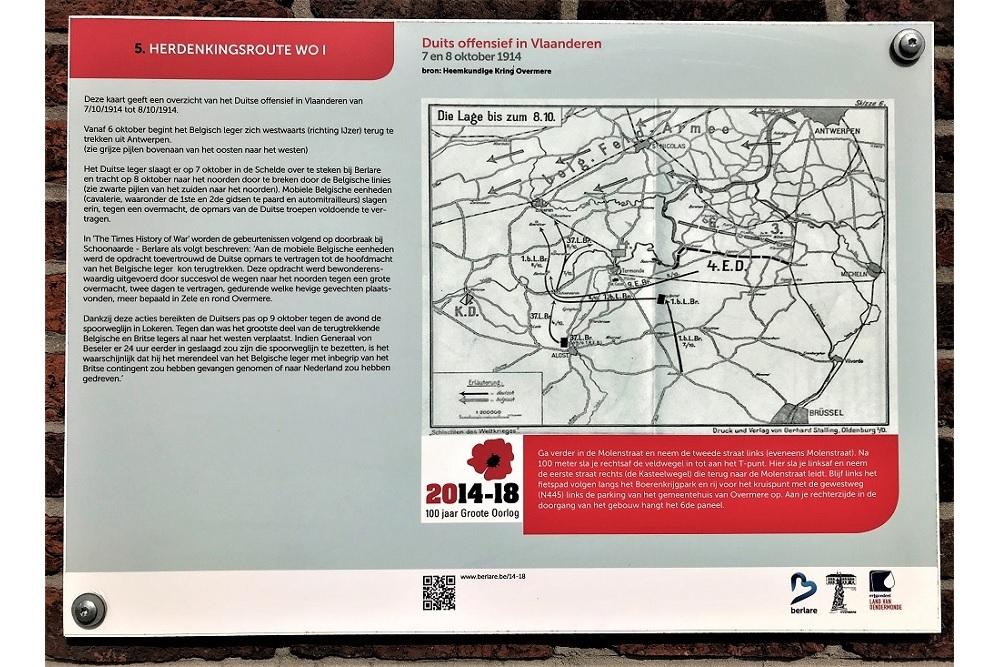 Herdenkingsroute 100 jaar Groote Oorlog - Informatiebord 5
