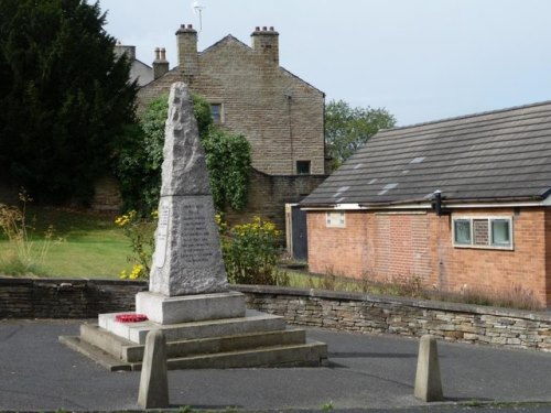 War Memorial Clayton West and High Hoyland
