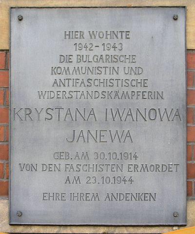 Plaque Krystana Iwanowa Janewa