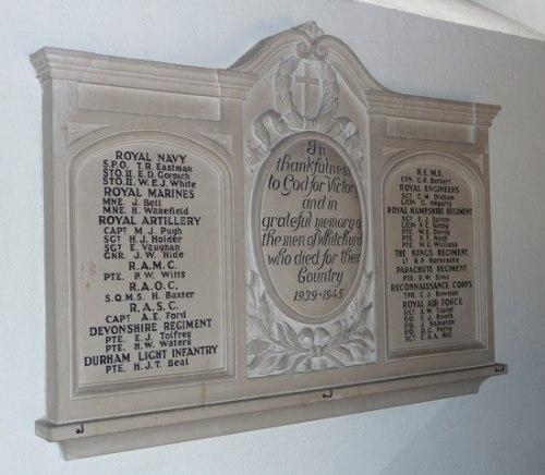 War Memorial All Hallows Church Whitchurch