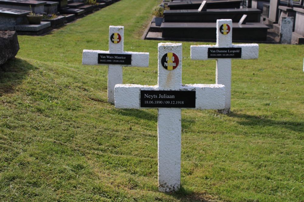 Belgian War Graves Old Cemetery Knokke