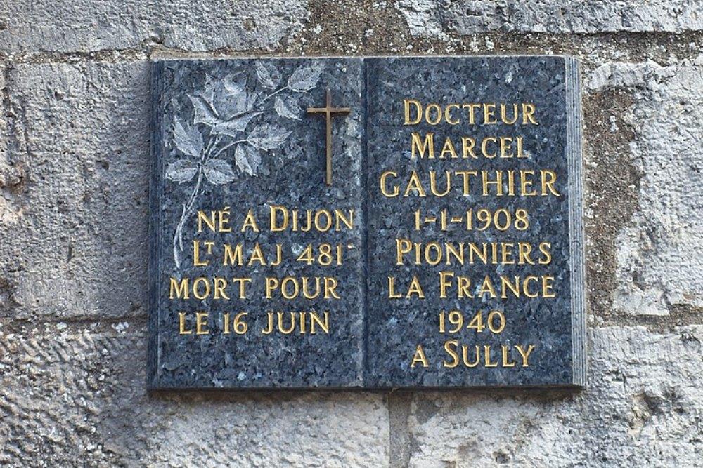 Plaque Marcel Gauthier