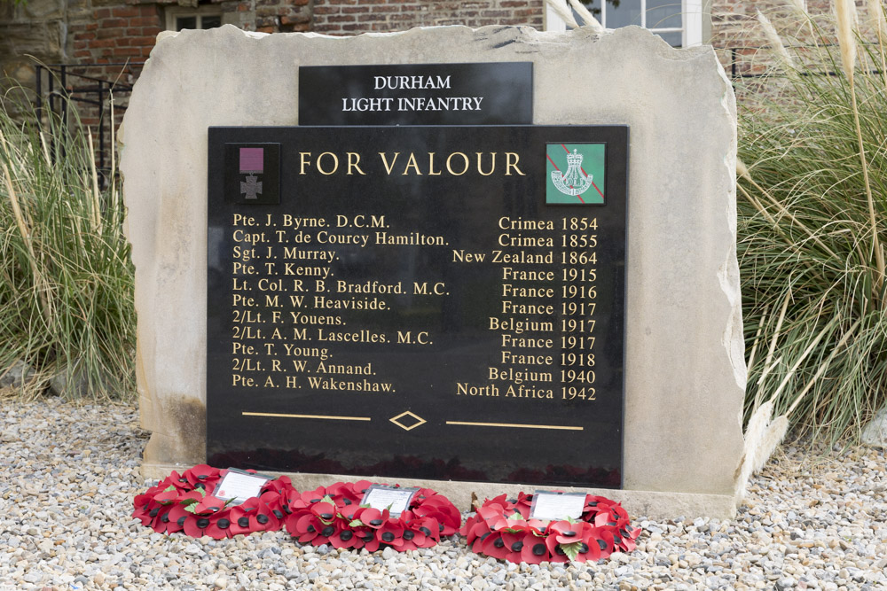 Memorial VC Awards Durham Light Infantry