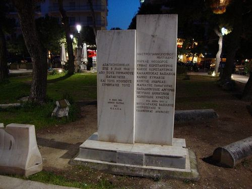 Memorial Executed Resistance Fighters Patras