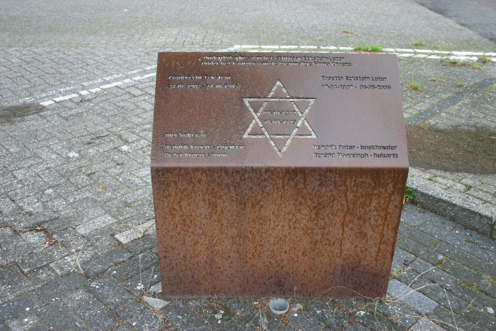 Memorial for Jewish people in hiding