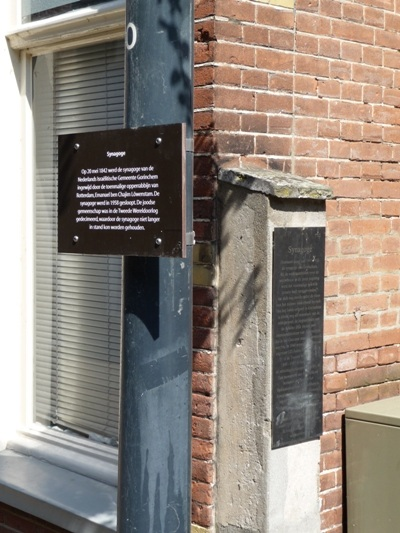 Plaque Synagogue Gorinchem