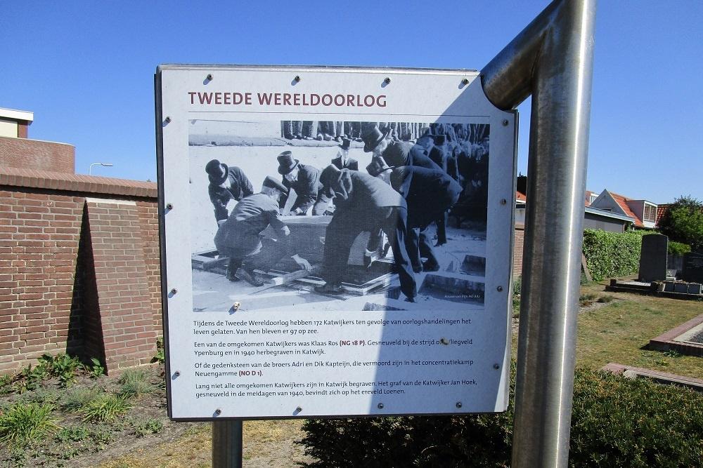 Information Panels Old Dutch Reformed Cemetery Katwijk aan Zee